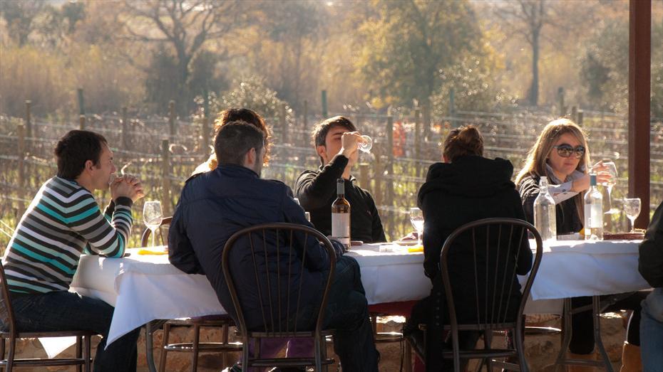 Esmorzar o berenar a peu de vinya