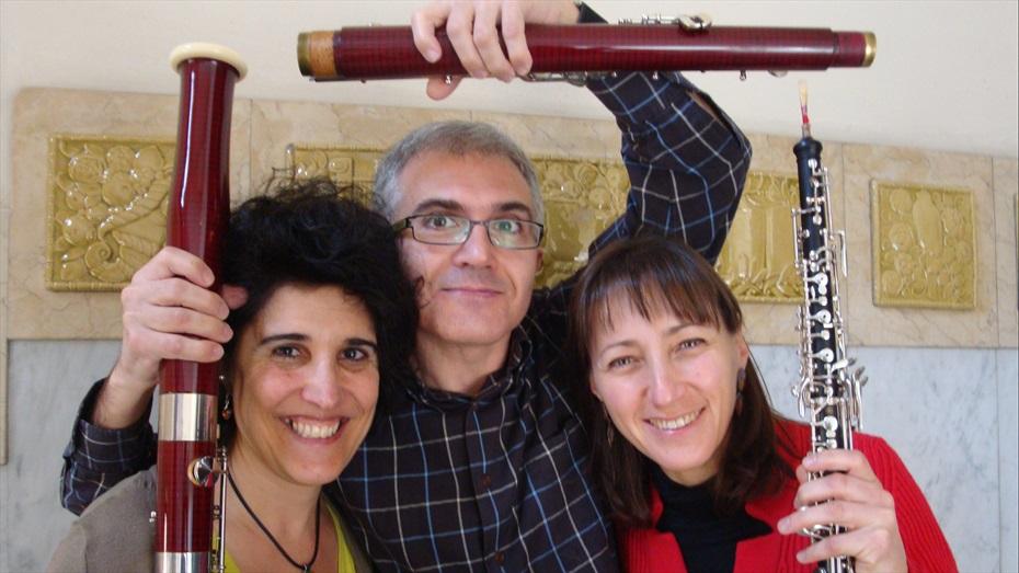 Concert al Taller Solé Luthier: Vidalba, trio de canyes