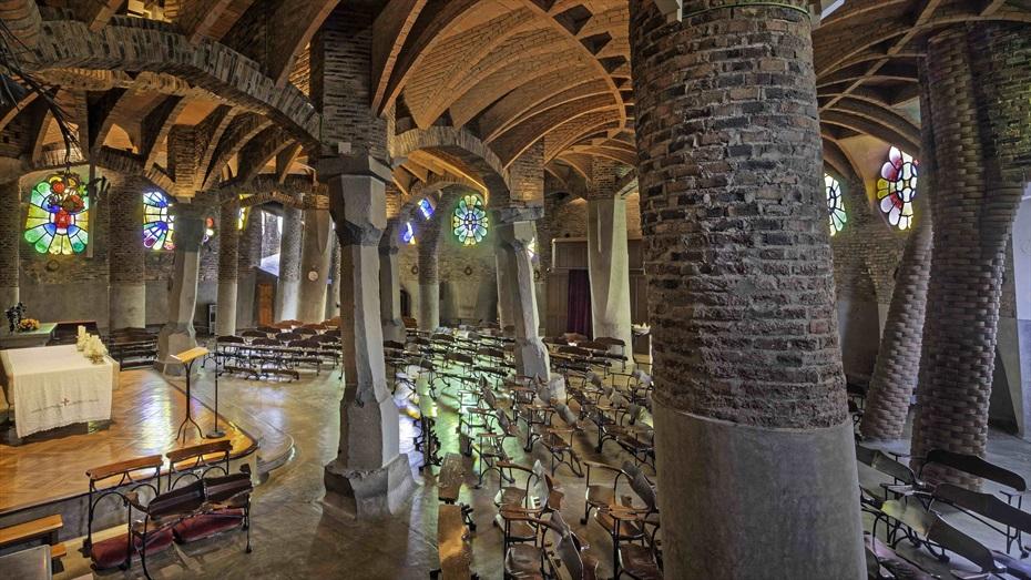 Oh Happy Gaudí! a la Colònia Güell amb Veuscomsí