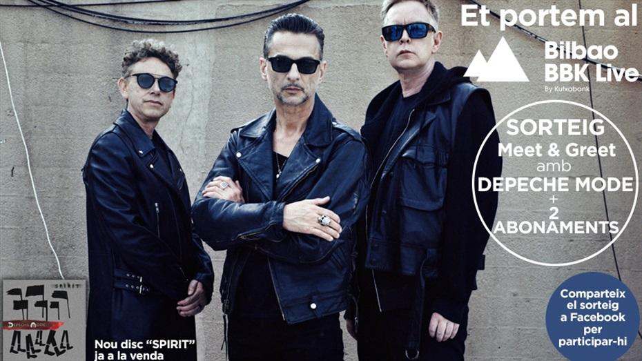 Sorteig d'abonaments pel Festival BBK+ Meet&Greet Depeche Mode