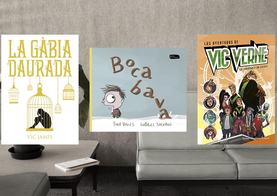 Llibres: La gàbia daurada, Bocabava i Las aventuras de Vic Verne