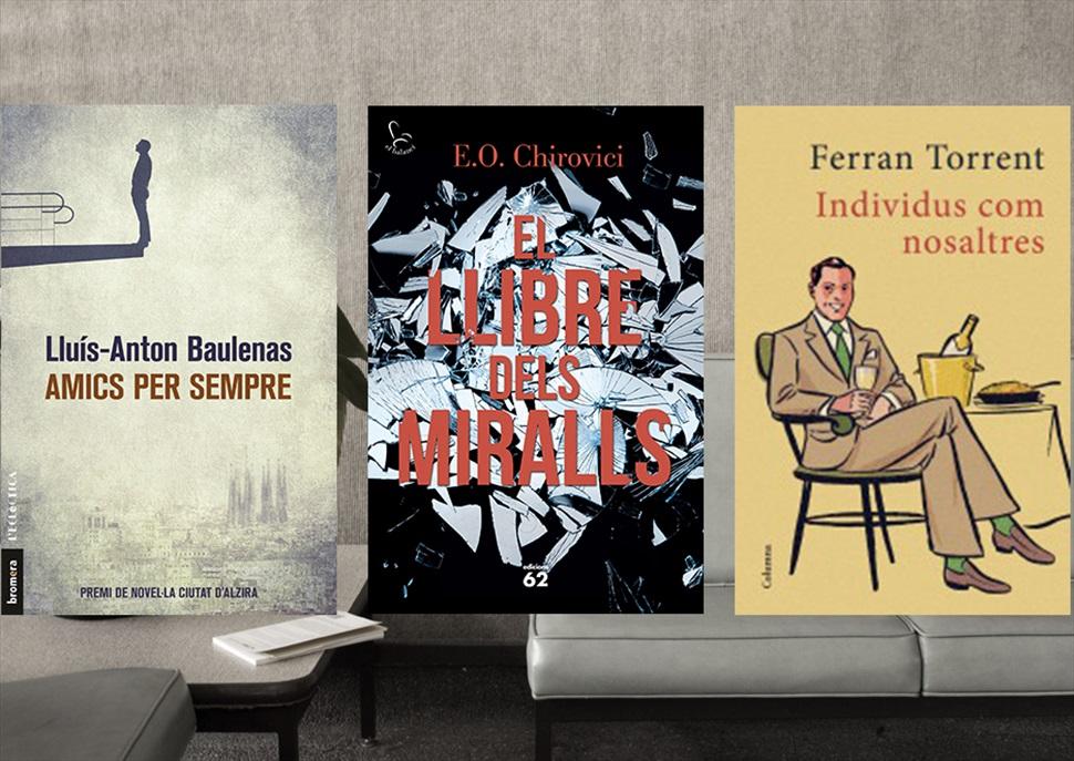 Llibres: Amics per sempre, El llibre dels miralls i Individus com nosaltres