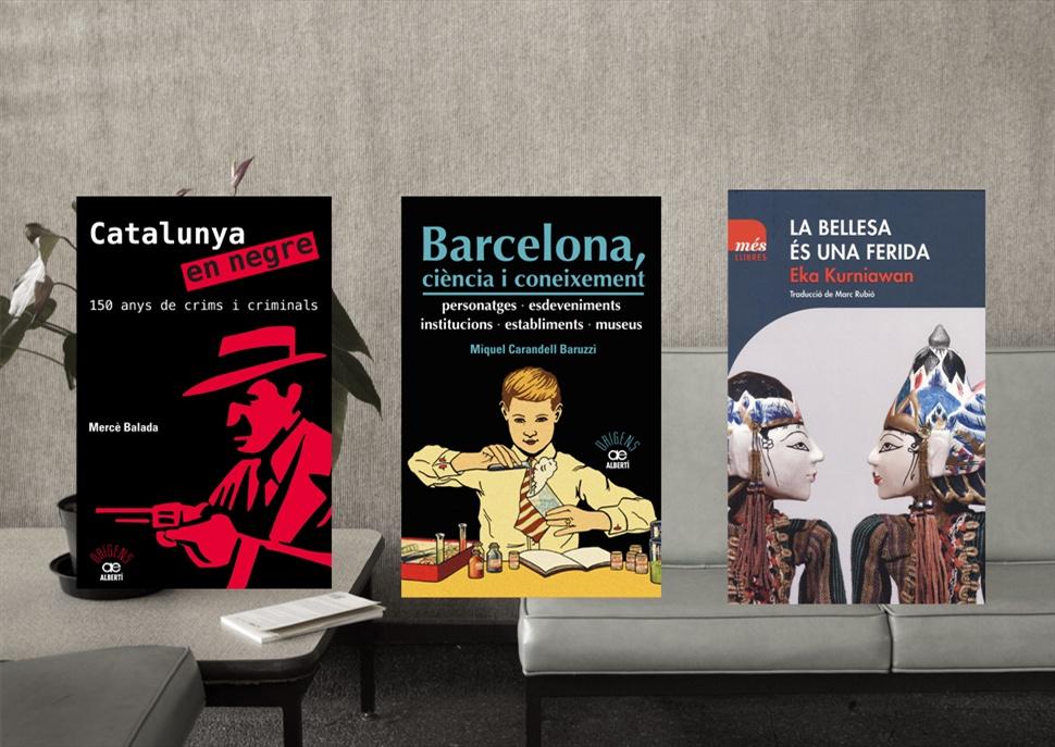 Pack de llibres: Catalunya en negre, Barcelona, ciència i coneixement i la bellesa és una ferida