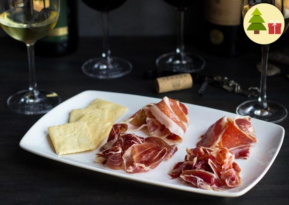 Regala un Maridatge de 4 vins i 4 pernils ibèrics + Visita als Cellers Torres
