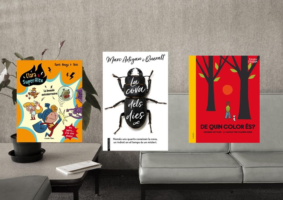 Pack de llibres:Clara & Super Àlex 3, La cova dels dies i Quin color és?