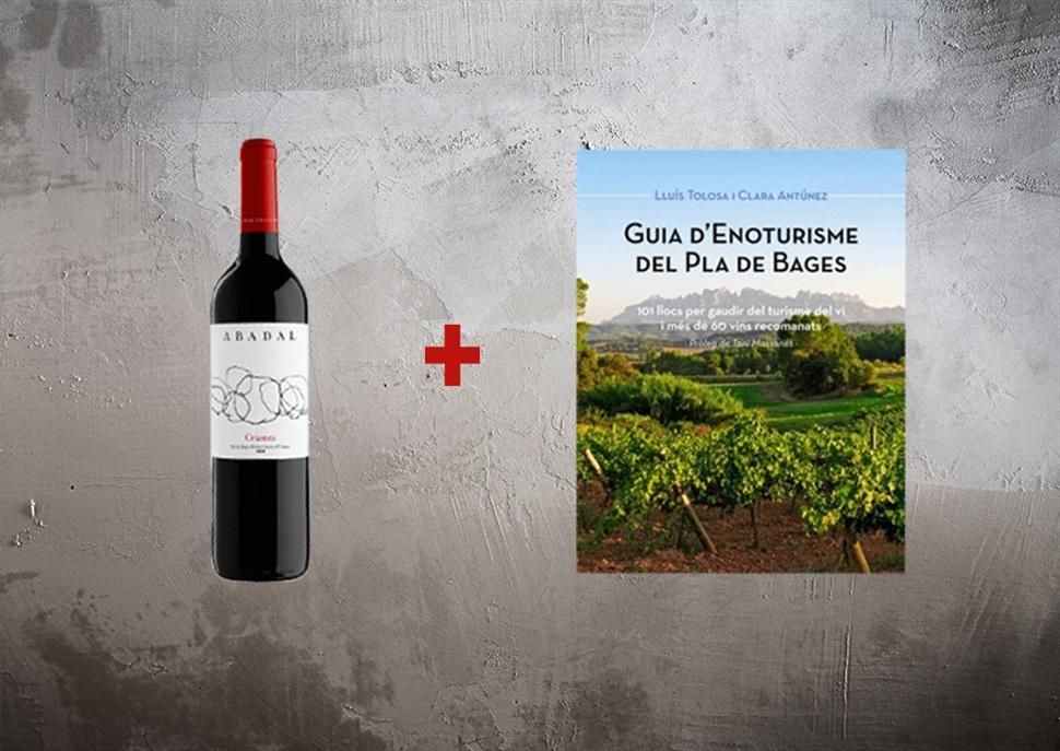 Guia d'enoturisme del Pla de Bages (Lluís Tolosa, 2013) + Ampolla de vi Abadal Crianza