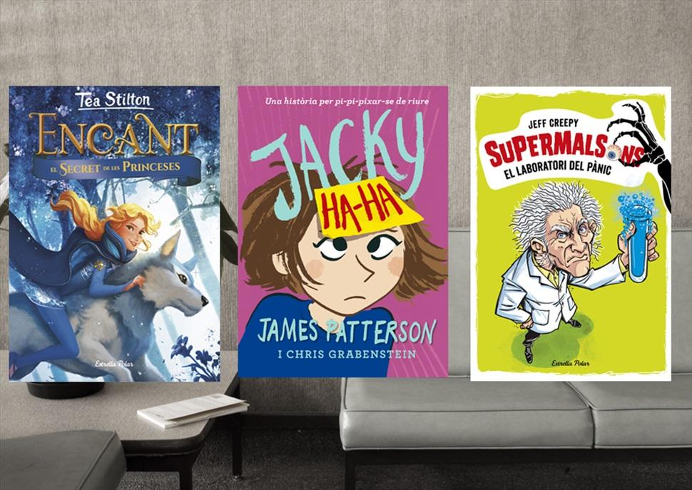 Llibres: Supermalsons (El Laboratori), Encant (El secret) i Jacky Ha-Ha