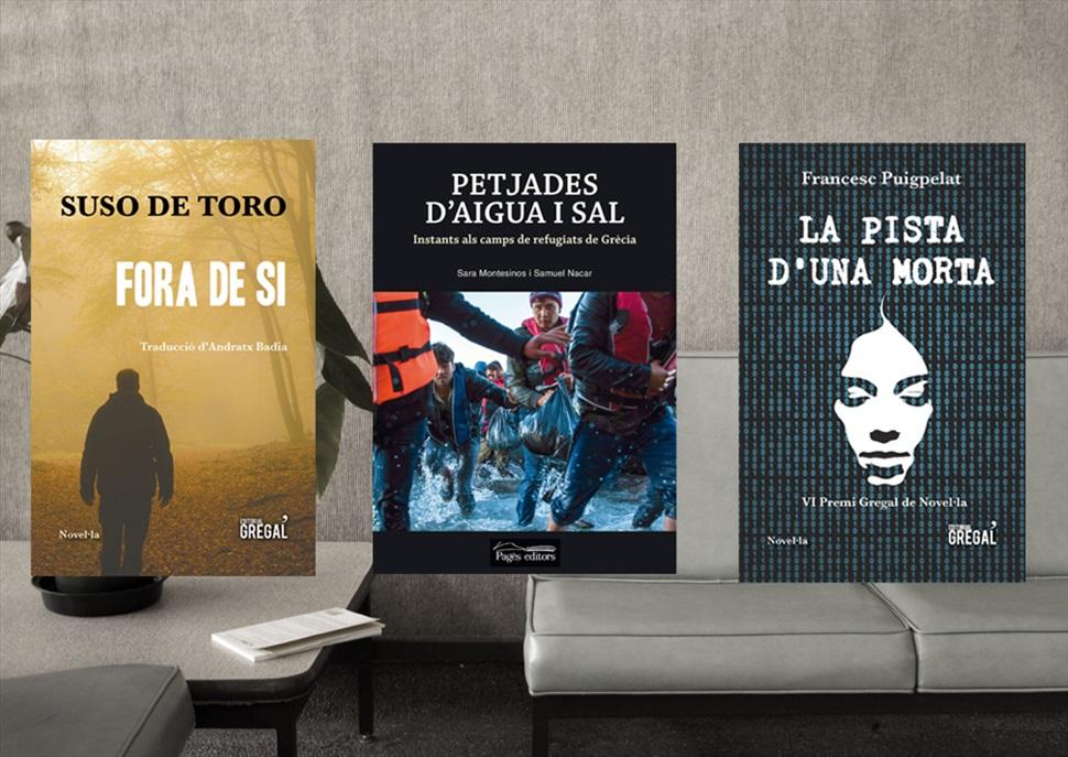 Llibres: La pista d'una morta, Fora de sí i Petjades d'aigua i sal