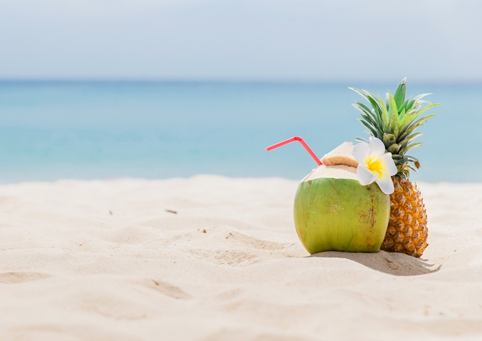 Festa hawaiana arran de mar