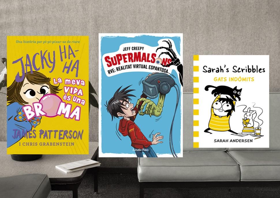 Llibres: Jacky Ha-Ha, Supermalsons i Gats indòmits
