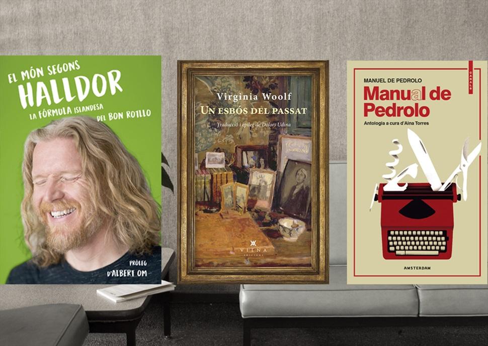 Llibres: Manual de Pedrolo, Un esbós del passat i El món segons Halldor