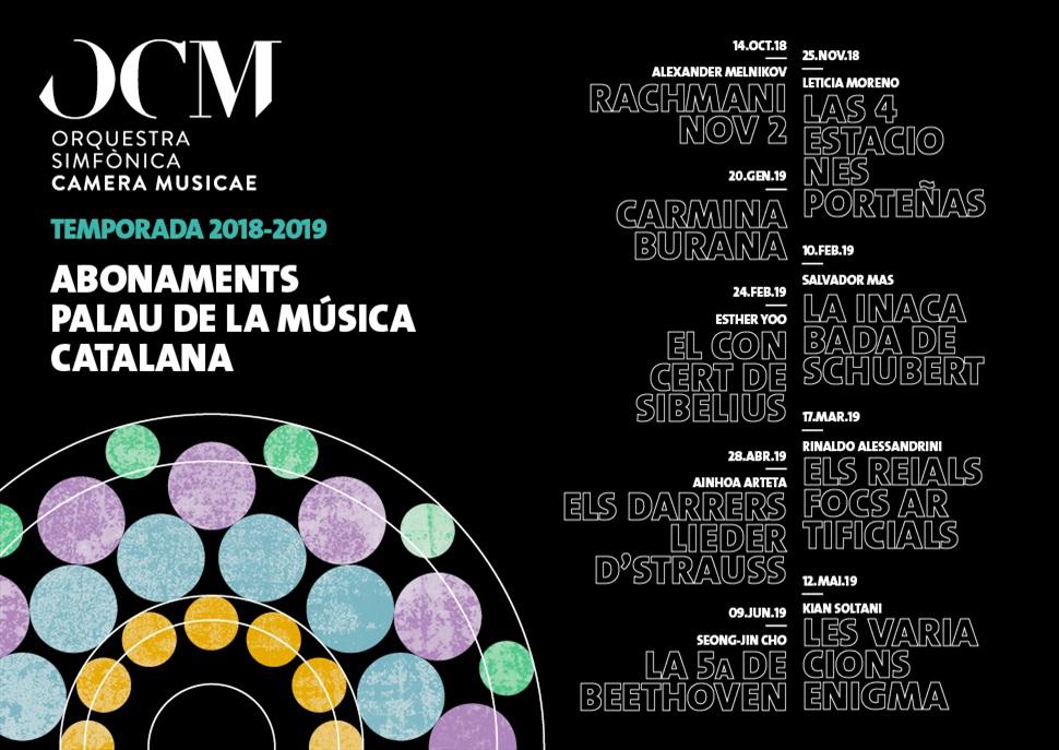 Orquestra Simfònica Camera Musicae (OCM) 18/19