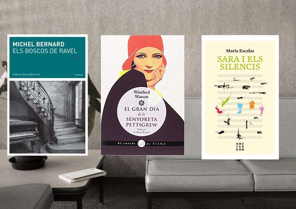 Llibres: El gran dia de la senyoreta Pettigrew, Els boscos de Ravel i Sara i els silencis