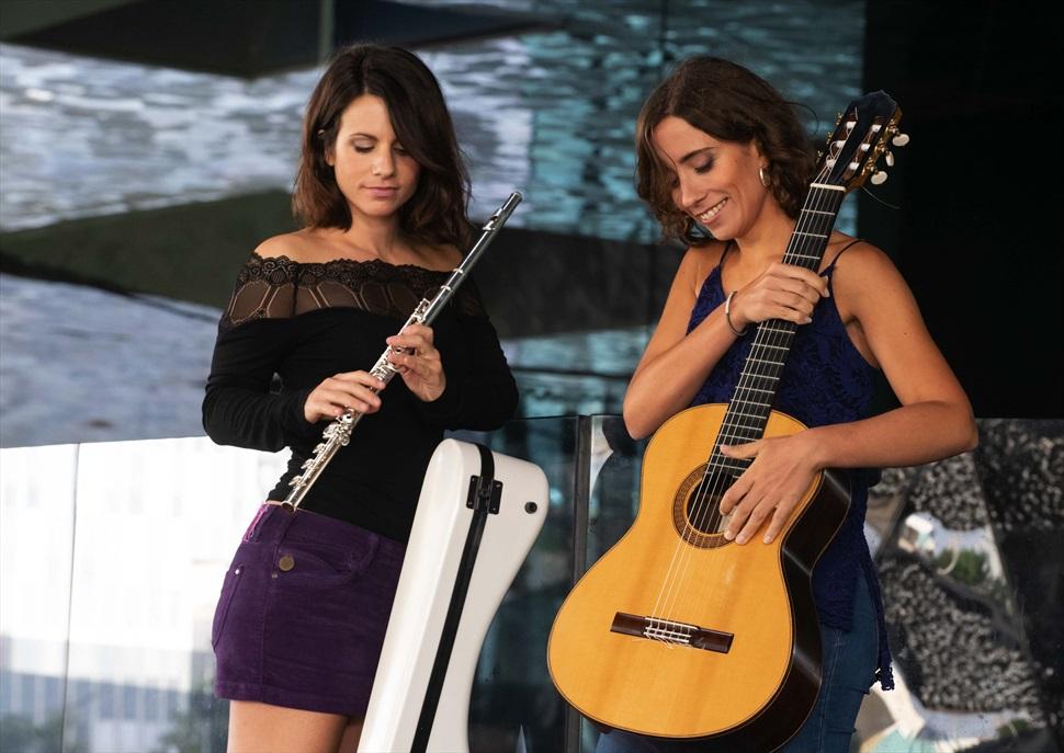 Concert al Recinte Modernista de Sant Pau: Neus Plana (flauta) i Maria Camahort (guitarra)
