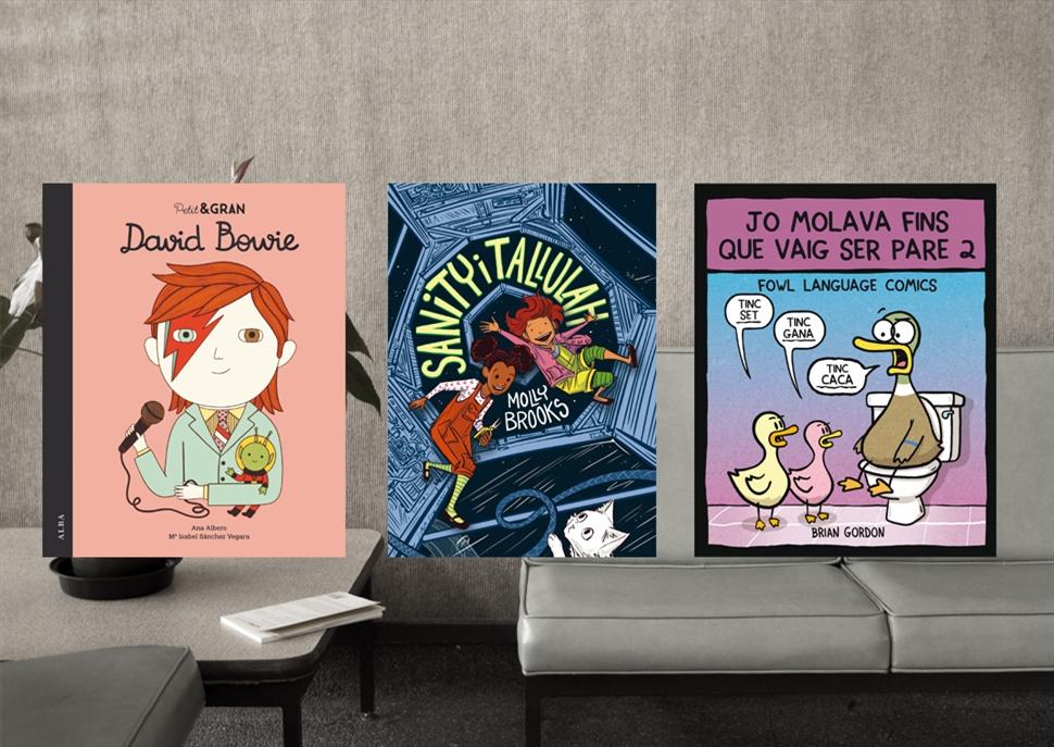 Llibres: Petit&Gran David Bowie, Sanity i Tallulah i Jo molava fins que vaig ser pare 2