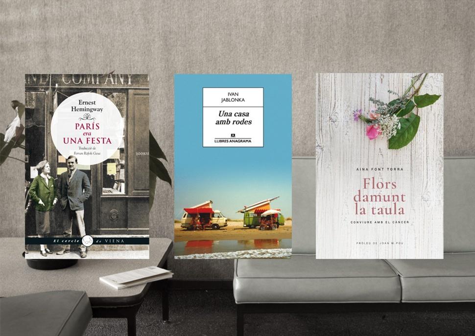 Llibres: París era una festa, Una casa amb rodes i Flors damunt la taula