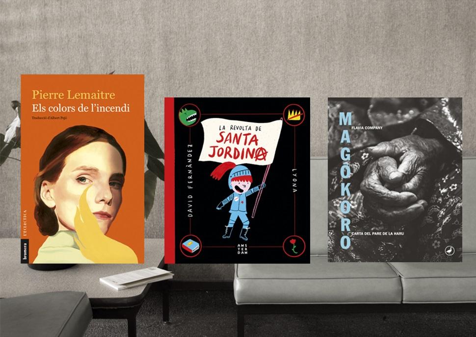 Llibres: La revolta de Santa Jordina, Magokoro i Els colors de l'incendi