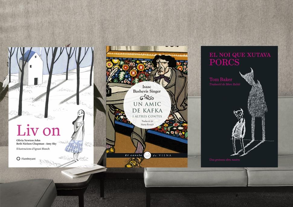 Llibres: Liv On, Un amic de Kafka i altres contes i El noi que xutava porcs