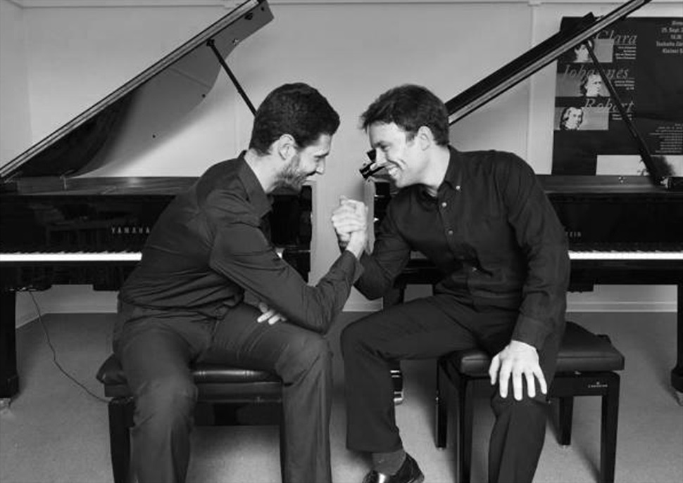 Concerts per piano i orquestra a dos pianos. Ferran Cullell i Santiago Blanco