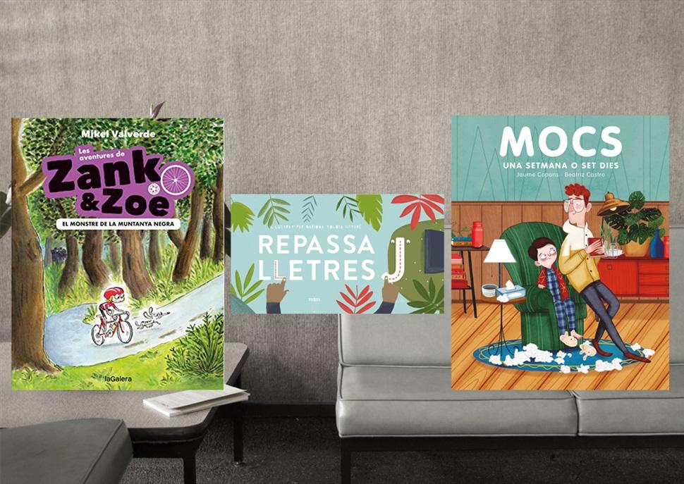 Llibres: Mocs, Repassalletres i Les aventures de Zank i Zoe