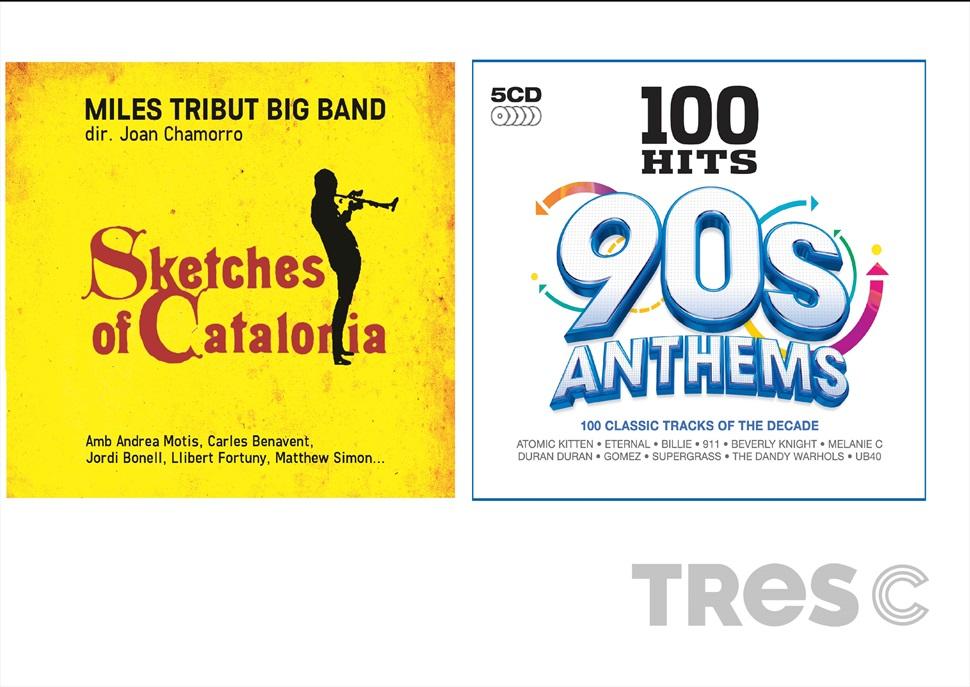 PACK CD: 100 HITS 90 s ANTHEMS + MILES DAVIS TRIBUT big band (JOAN CHAMORRO)