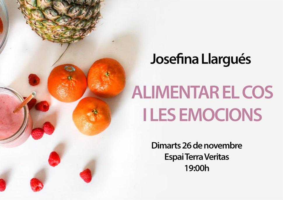 """Presentació """"Alimentar el cos i les emocions"""" amb Josefina Llargués"""