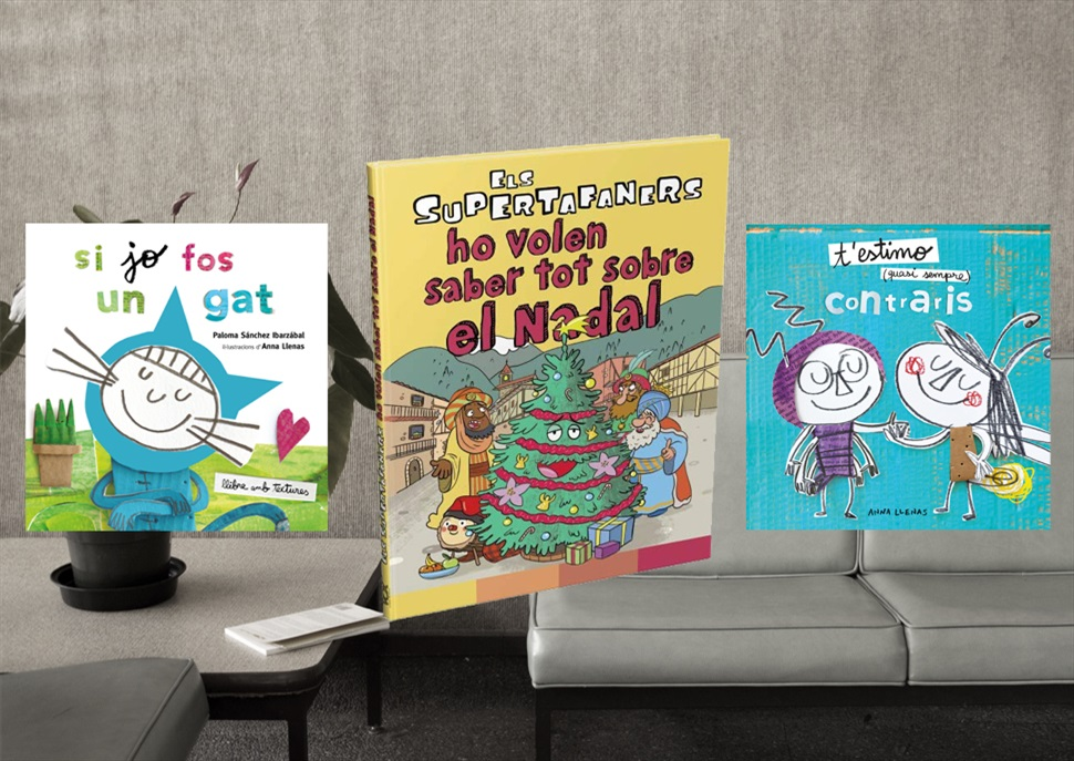 Llibres: Llibres: T'estimo quasi sempre, Si jo fos un gat, Els Supertafaners ho volen saber tot sobre el Nadal