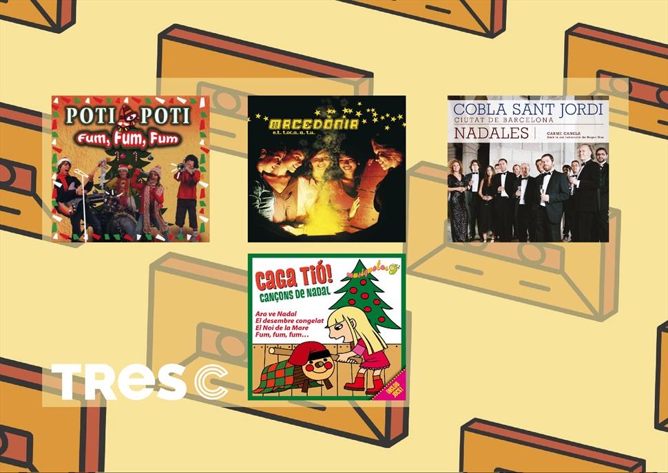 Pack CD : NADALES COBLA SANT JORDI +CAGA TIO+MACEDONIA NADALES+ POTI POTI FUM FUM FUM