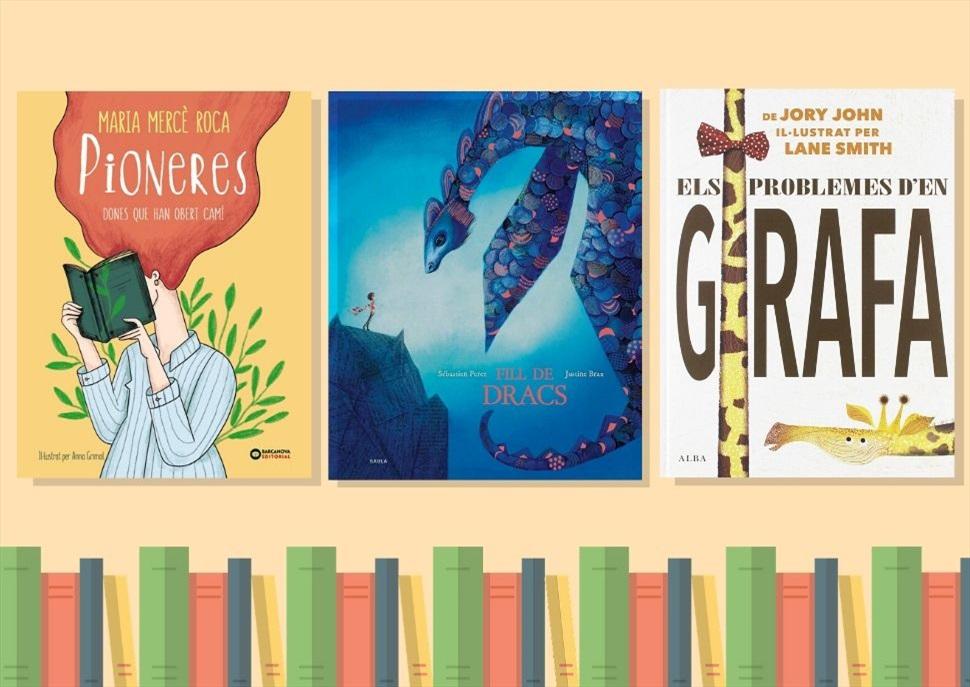 Llibres: Pioneres, Els problemes d'en Girafa i Fill de Dracs