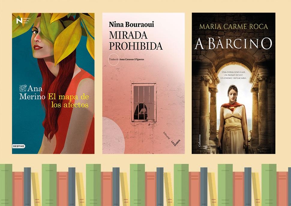 Llibres: Mirada prohibida, A Bàrcino i El mapa de los afectos